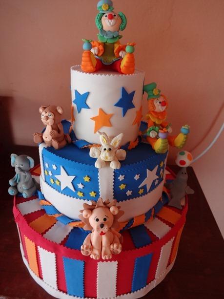 bolo decorado circo 2
