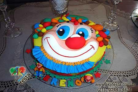 bolo decorado circo palhaco 10