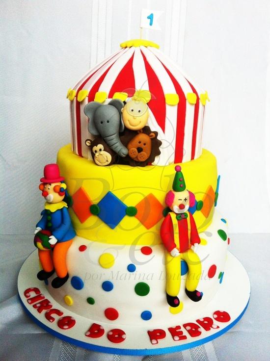 bolo decorado circo palhaco 2