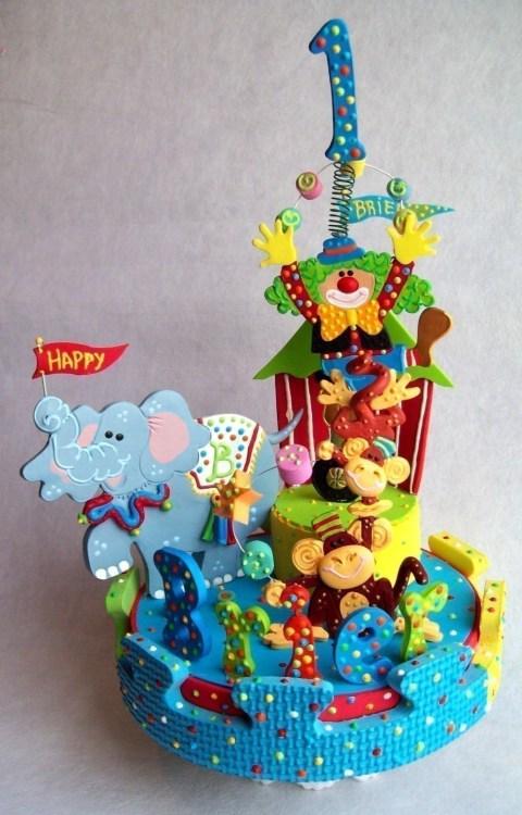 bolo decorado circo palhaco 4