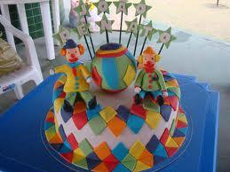 bolo decorado circo palhaco 5