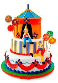 bolo decorado circo palhaco 6