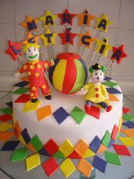 bolo decorado circo palhaco 7