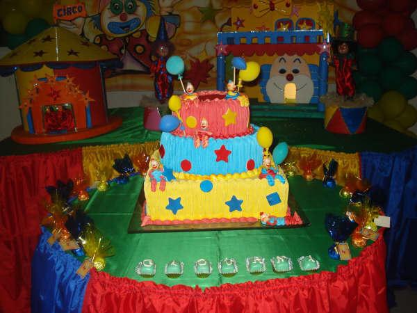 bolo decorado circo palhaco 9
