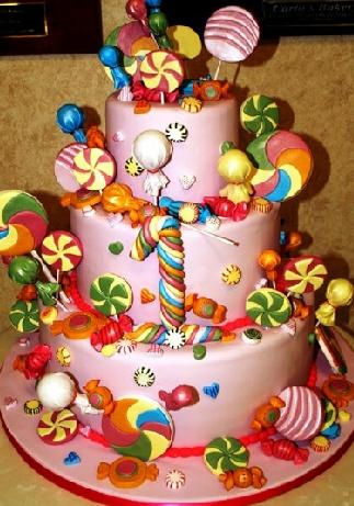 bolo decorado circo