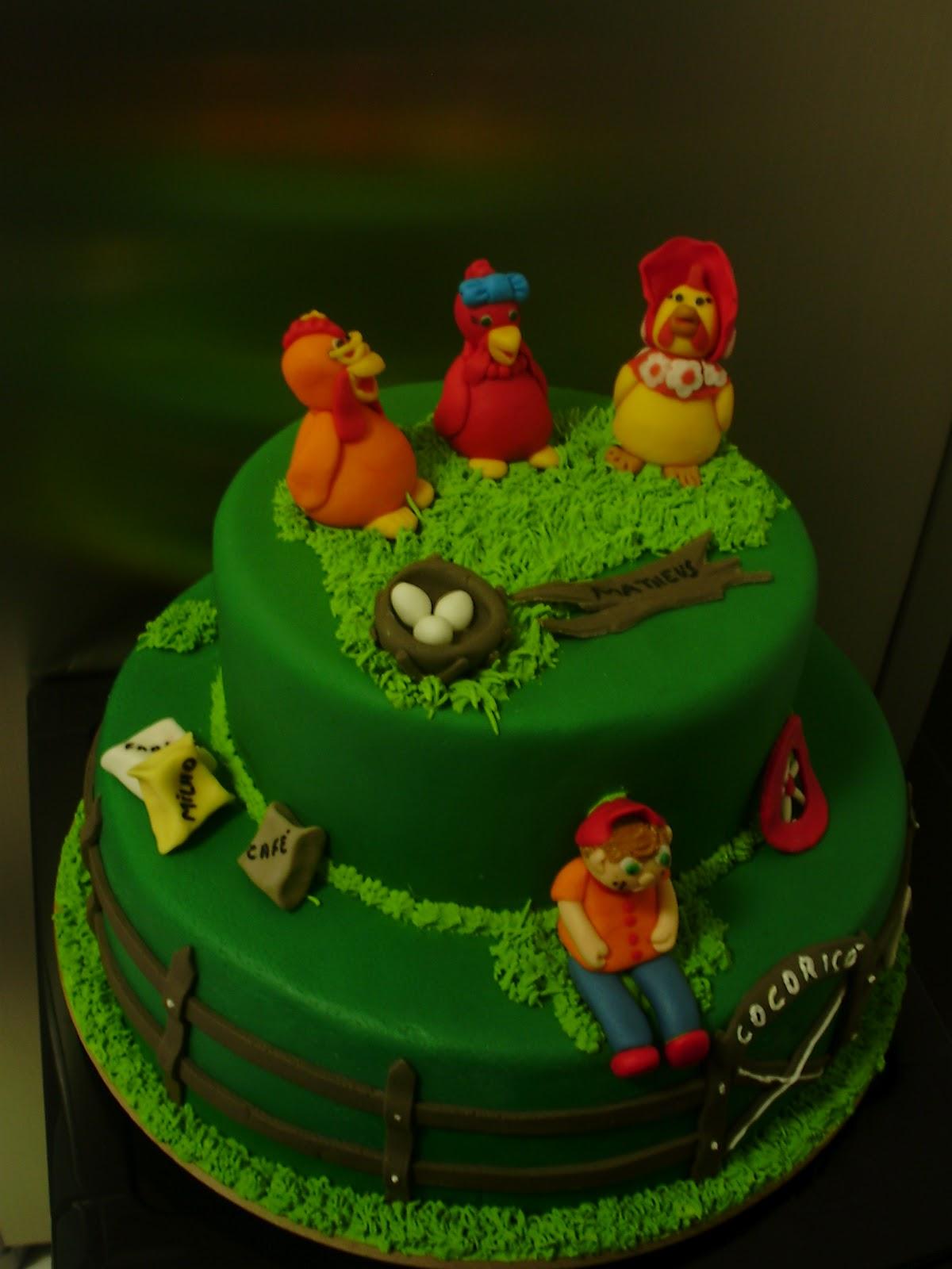 bolo decorado cocorico 2
