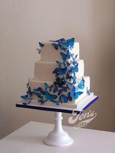 bolo decorado com borboletas