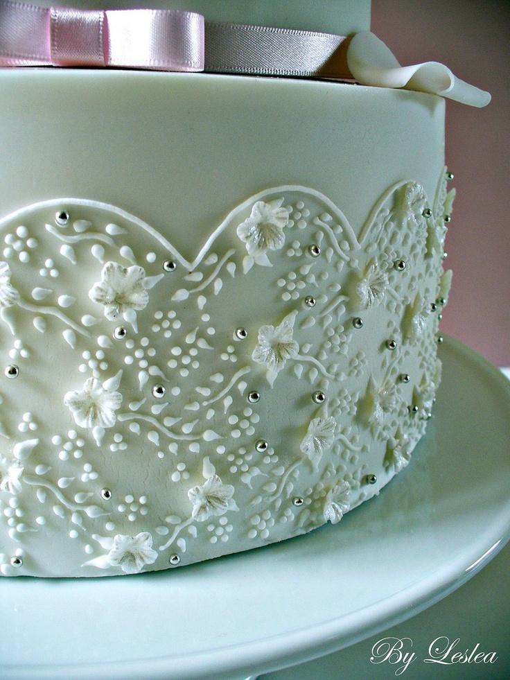 bolo decorado com glace real