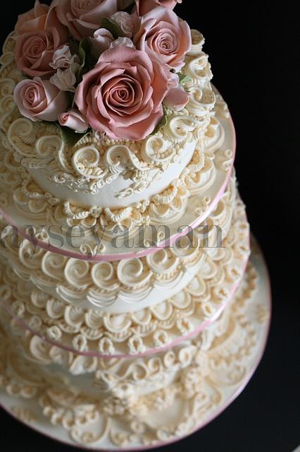 bolo decorado com glace