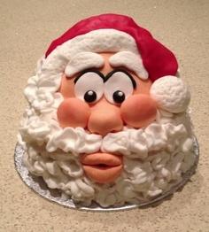 bolo decorado do pai natal