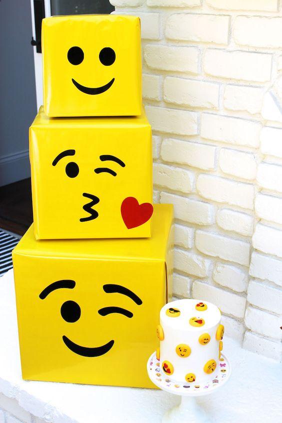 bolo decorado emoji 4