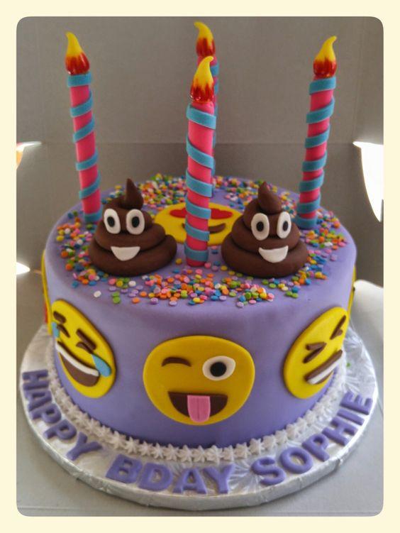 bolo decorado emoji 6