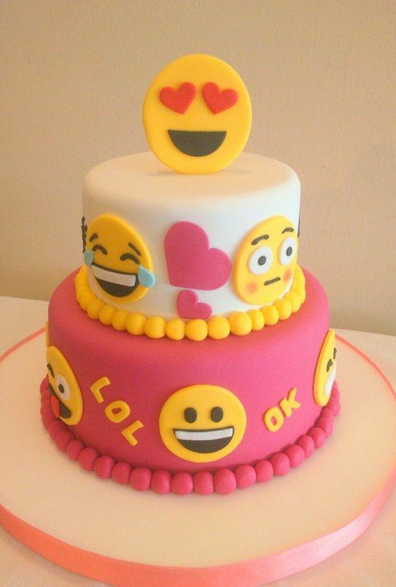 bolo decorado emoji 9