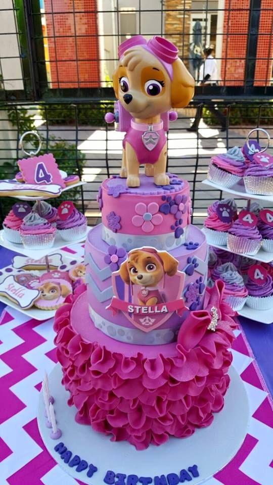 bolo decorado festa Skye Patrulha Canina 1