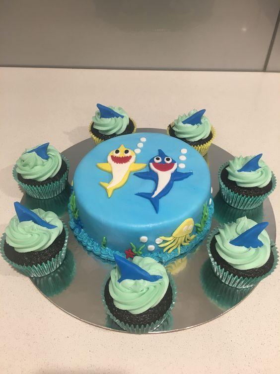 bolo decorado festa baby shark 3