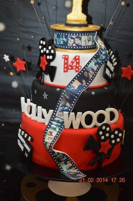 bolo decorado festa hollywood