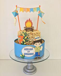 bolo decorado festa junina pipoca