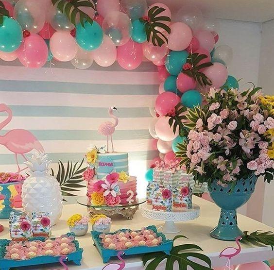 bolo decorado flamingo 10