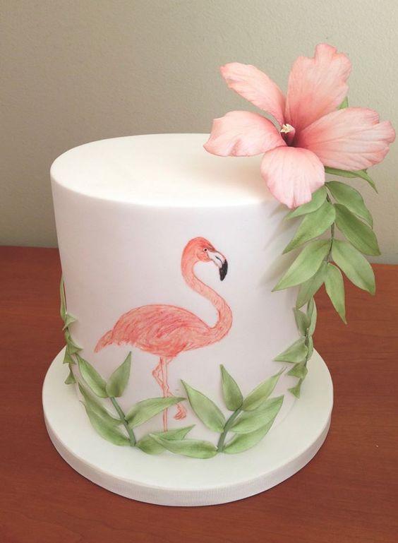 bolo decorado flamingo 11