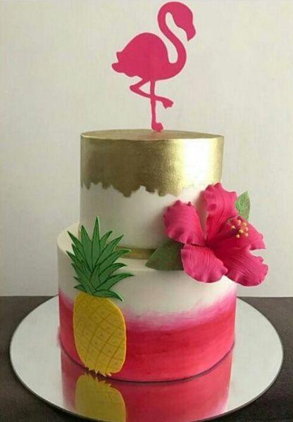 bolo decorado flamingo 13