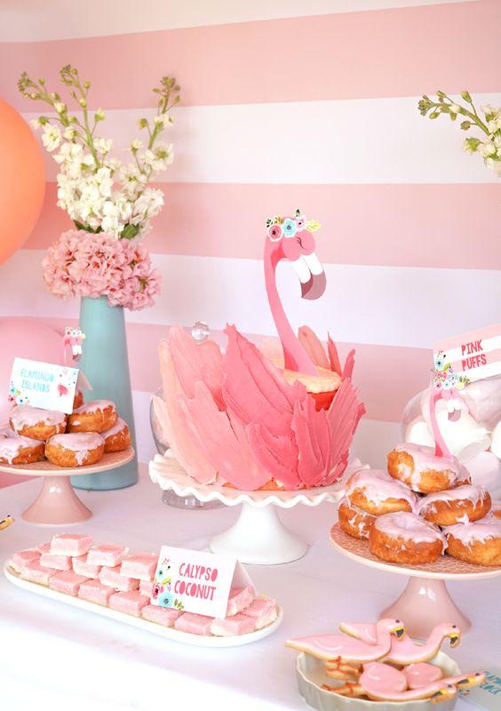 bolo decorado flamingo 15