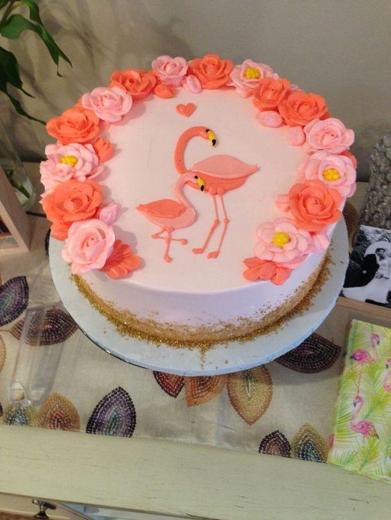 bolo decorado flamingo 16