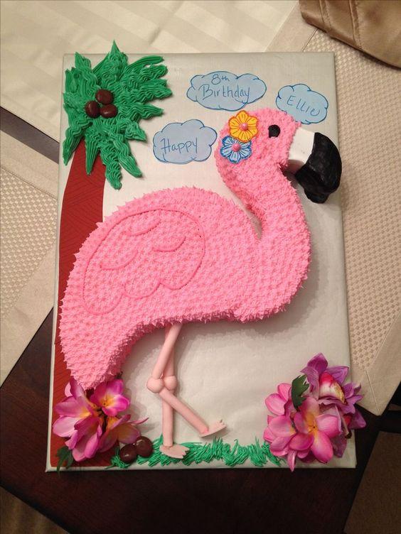 bolo decorado flamingo 18