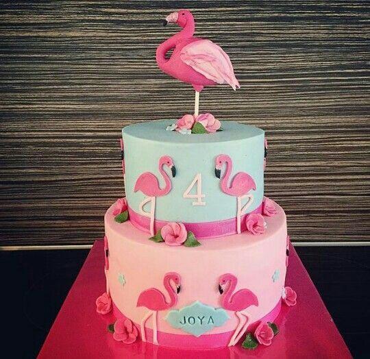 bolo decorado flamingo 5