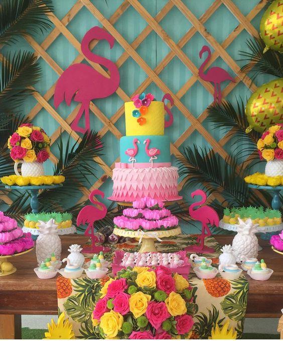 bolo decorado flamingo 7