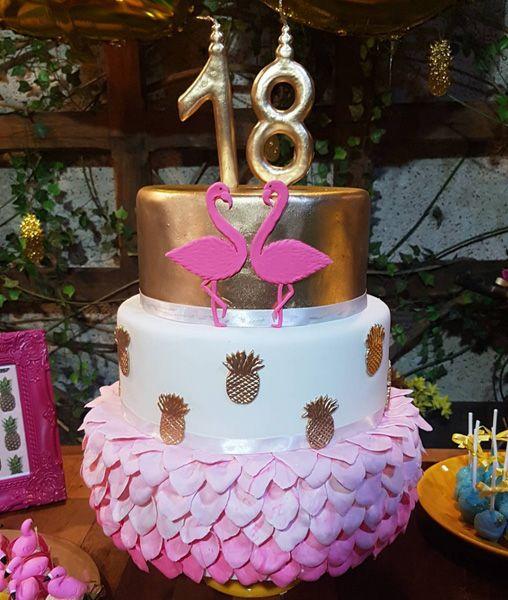 bolo decorado flamingo 8