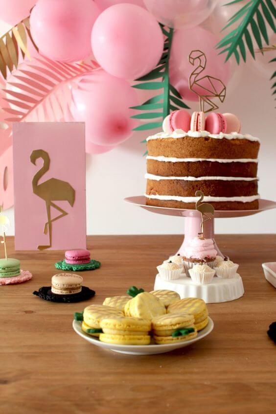 bolo decorado flamingo 9