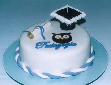 bolo decorado formatura