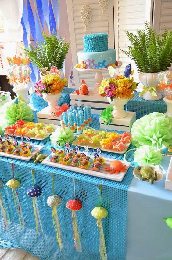 bolo decorado fundo mar 8