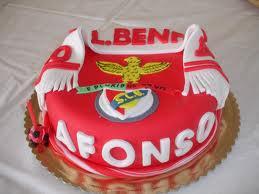 bolo decorado futebol benfica