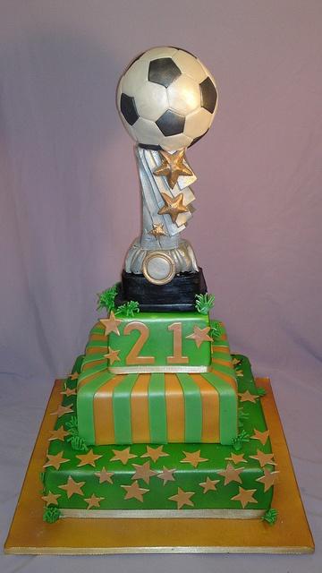 bolo decorado futebol taca