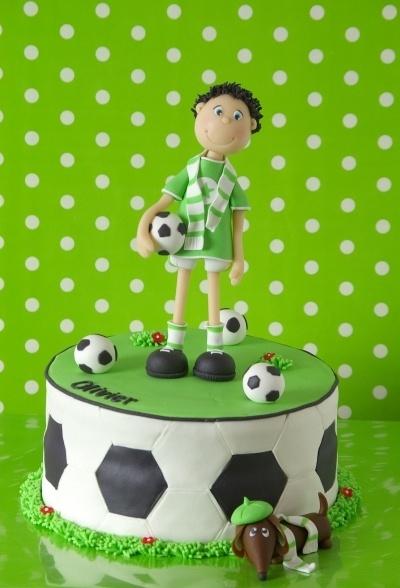 bolo decorado futebol