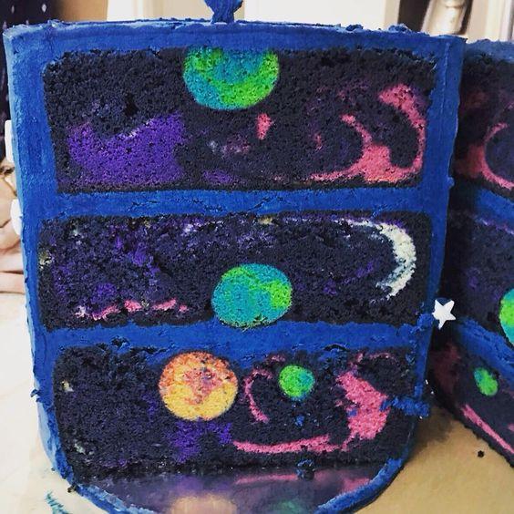 bolo decorado galaxia 1