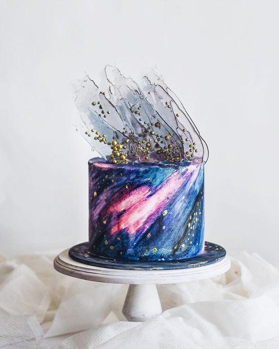 bolo decorado galaxia 3