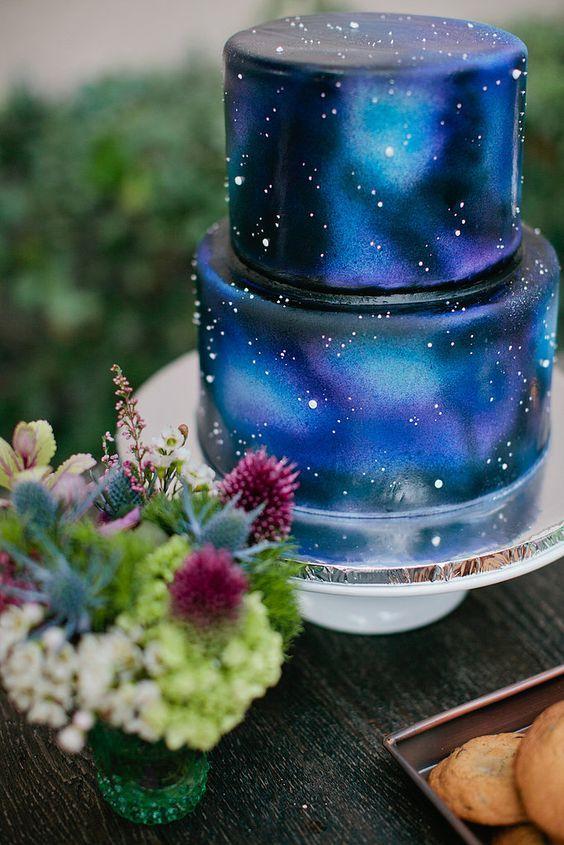 bolo decorado galaxia 5