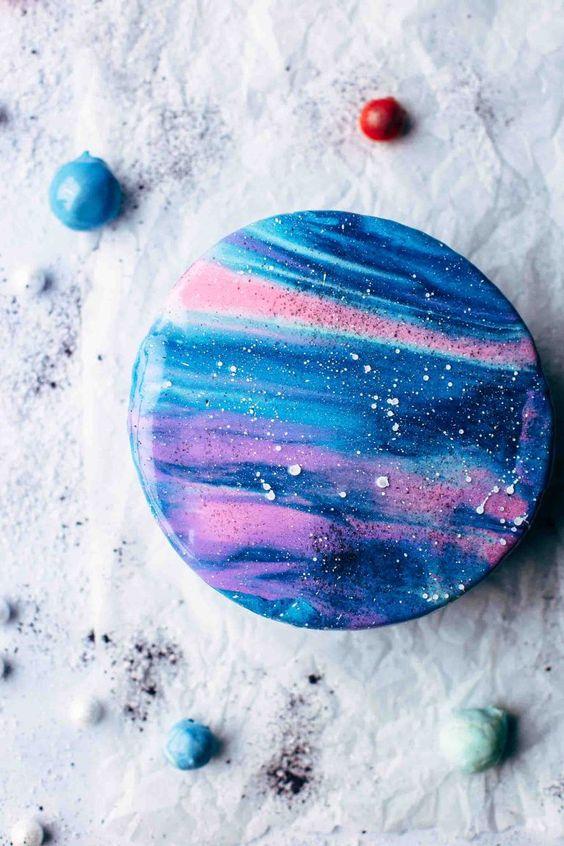 bolo decorado galaxia 9