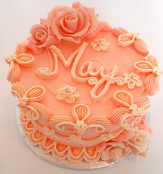 bolo decorado glace laranja