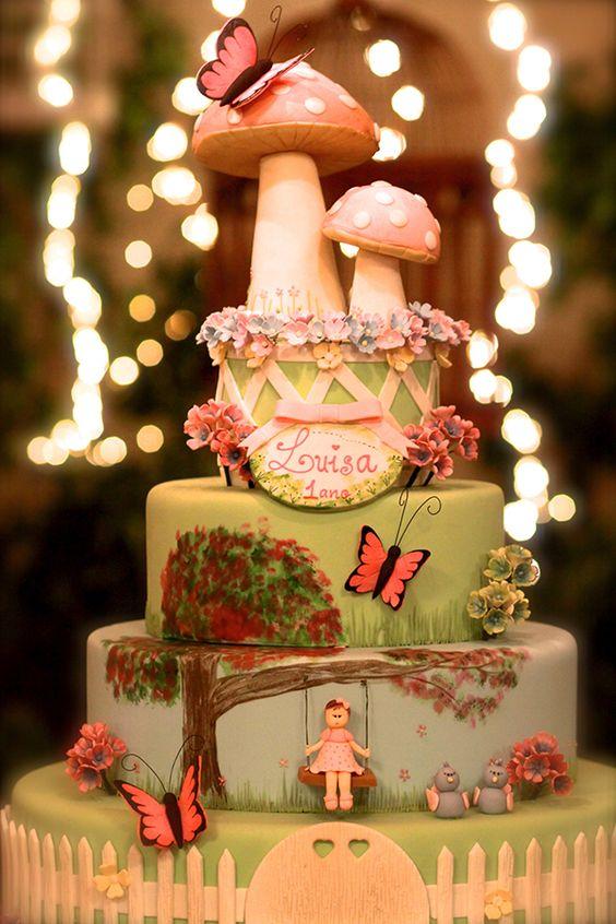 bolo decorado jardim secreto 1
