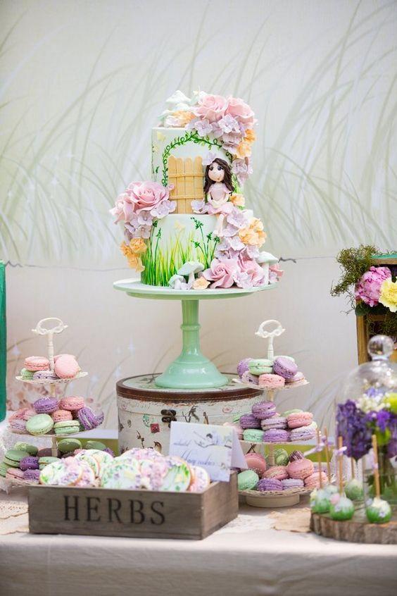 bolo decorado jardim secreto 4
