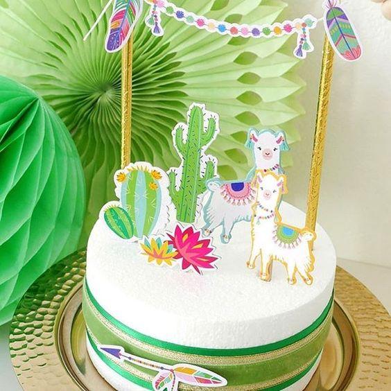 bolo decorado lama