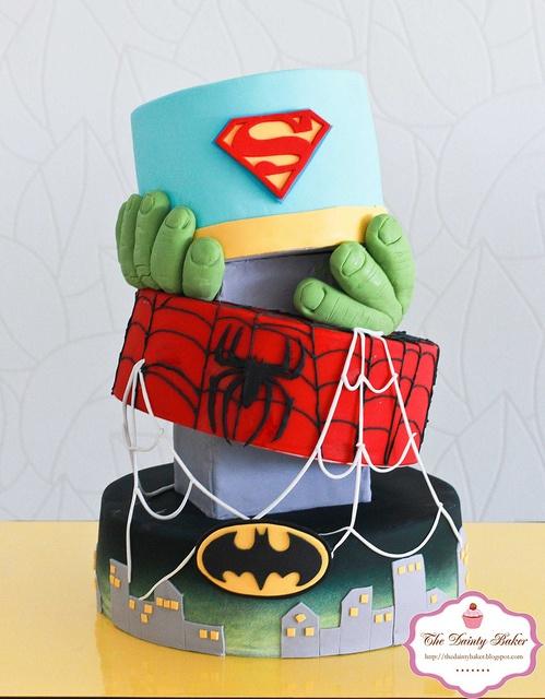 bolo decorado menino hulk