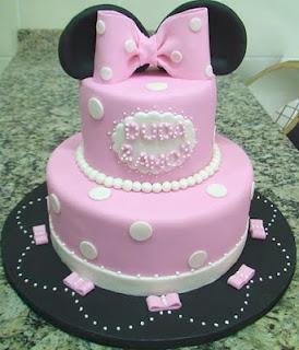 bolo decorado minnie rosa