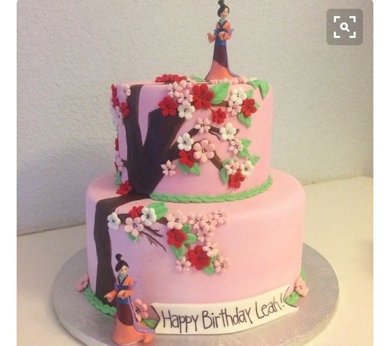 bolo decorado mulan princesa