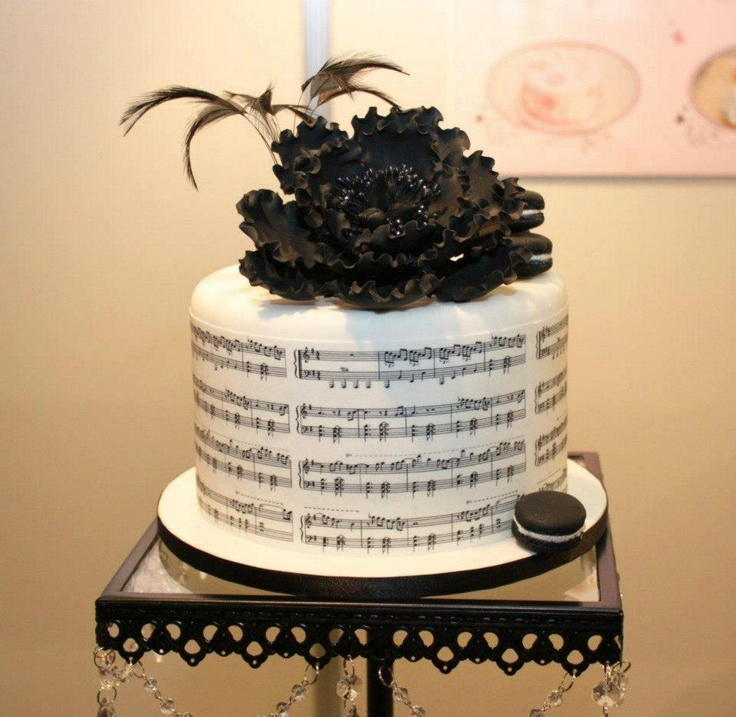 bolo decorado musica
