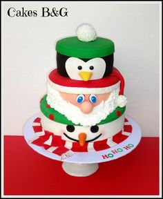 bolo decorado natal