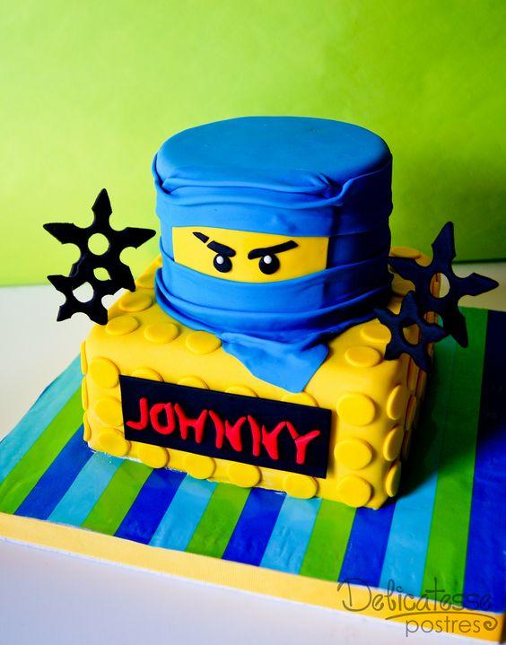 bolo decorado ninjago 1